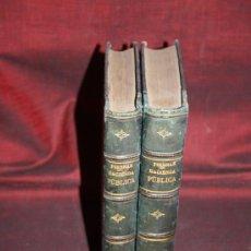 Libros antiguos: 1500- 'TRATADO DE HACIENDA PÚBLICA Y EXAMEN DE LA ESPAÑOLA' POR J.M. PIERNAS 2 TOMOS MADRID 1891. Lote 30613438