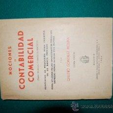 Libros antiguos: NOCIONES DE CONTABILIDAD COMERCIAL.. Lote 30908943