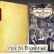 Libros antiguos: 1723 LE LIVRE DES COMPTES-FAITS Y TARIFA GENERAL DE MONEDAS DE BARREME MUY RARO. Lote 31265995