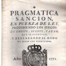 Libros antiguos: PRAGMÁTICA SANCIÓN DE S.M., 1771, MADRID, ANTONIO SANZ, IMPRESOR DEL REY Y SU REAL CONSEJO. Lote 31313722