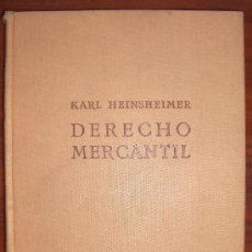 Libros antiguos: 1933. KARL HEINSHEIMER. DERECHO MERCANTIL.. Lote 32144132