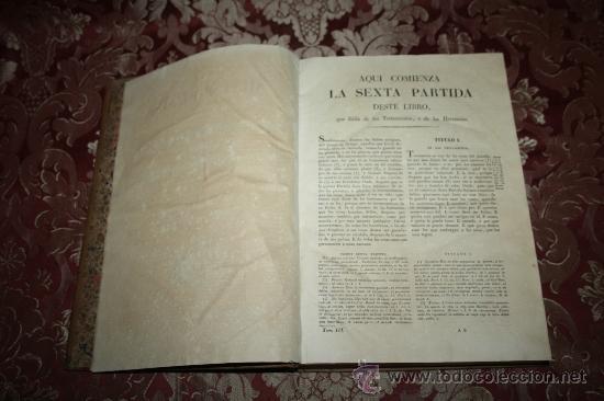Libros antiguos: 0406-LAS SIETE PARTIDAS DEL MUY NOBLE REY D. ALFONSO EL SABIO POR GREGORIO LOPEZ - T. 3 Y 4 - 1844 - Foto 4 - 32303833