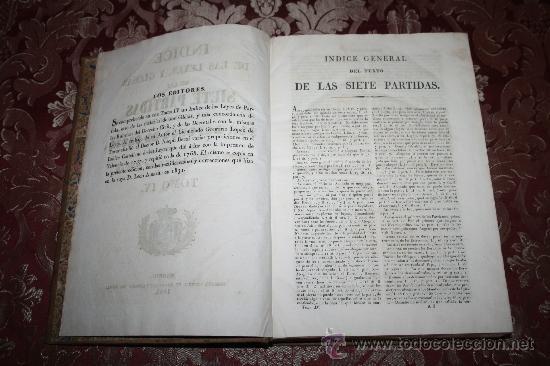 Libros antiguos: 0406-LAS SIETE PARTIDAS DEL MUY NOBLE REY D. ALFONSO EL SABIO POR GREGORIO LOPEZ - T. 3 Y 4 - 1844 - Foto 8 - 32303833