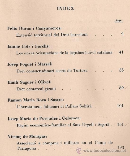 Libros antiguos: Conferencies sobre varietats comarcals del Dret Civil Catala / A.V. BCN, 1934. 25x18cm. 349 p. - Foto 3 - 32599399