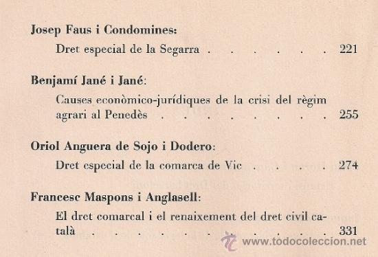 Libros antiguos: Conferencies sobre varietats comarcals del Dret Civil Catala / A.V. BCN, 1934. 25x18cm. 349 p. - Foto 4 - 32599399