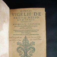 Libros antiguos: 1581-MÉTODO DE DERECHO PONTIFICIO.LEYES.MAGISTRADOS.JUICIOS. NICOLAI VIGELI. Lote 32745194