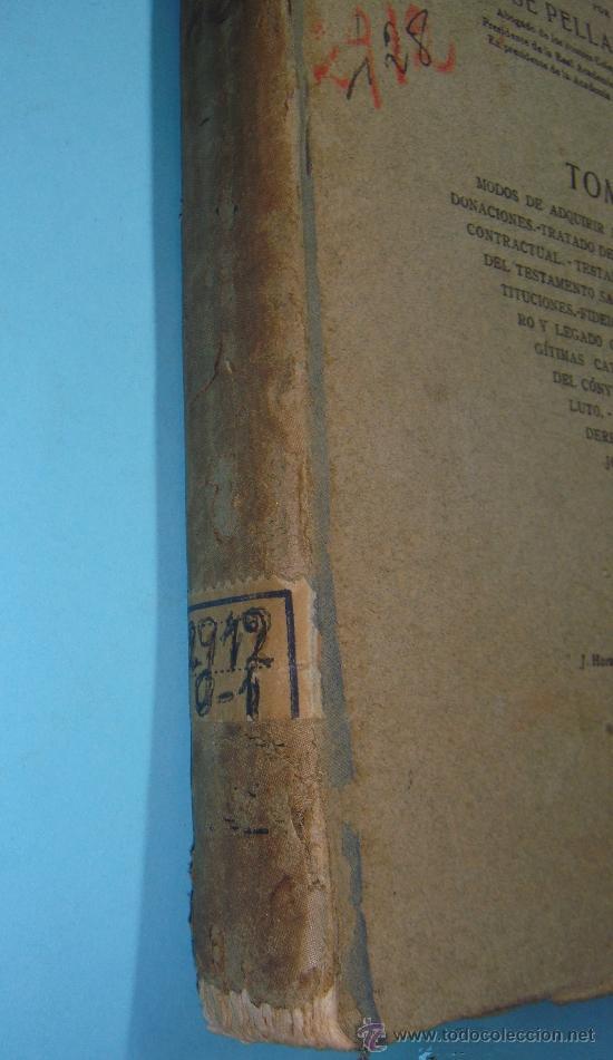 Libros antiguos: LIBRO. ANTIGUO LIBRO DEL CODIGO CIVIL DE CATALUÑA: Tomo III. Por J. Pella y Forgas. Año 1918 - Foto 2 - 32757571
