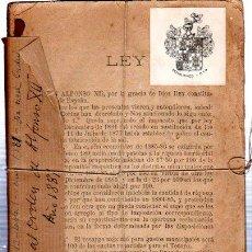 Libros antiguos: REAL ORDEN DE ALFONSO XII, 1881, 176 PÁGINAS, 13X19CM, ARTÍCULOS, SECCIONES Y MODELOS TERRITORIALES. Lote 32835358