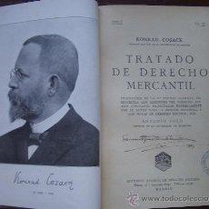 Libros antiguos: 1935. TRATADO DE DERECHO MERCANTIL. KONRAD COSACK. (DERECHO MERCANTIL). Lote 33177210