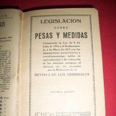 Libros antiguos: LEGISLACIÓN SOBRE PESAS Y MEDIDAS : COMPRENDE LA LEY DE 8 DE JULIO DE 1892 Y EL.... Lote 33706675