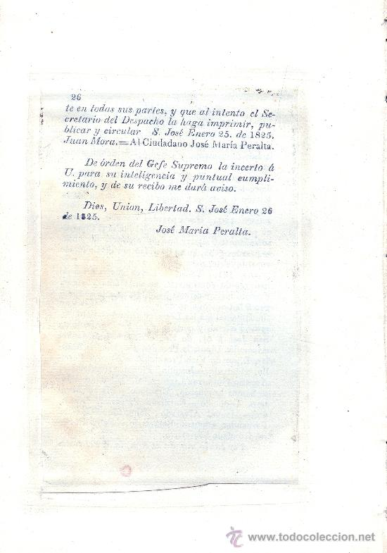 Libros antiguos: COSTA RICA. Ley Fundamental del Estado Libre de---. San Salvador, 1826. 1ª ed. Muy raro. - Foto 3 - 35225011