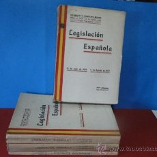 Libros antiguos: 4VOL.-LEGISLACION ESPAÑOLA. DESDE 18 DE JULIO DE 1936 AL 1DE JULIO DE 1938,-(AÑOS DE GUERRA CIVIL. Lote 35258872