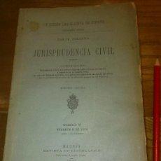 Libros antiguos: GRAN LIBRO COLECCION LEGISLATIVA DE ESPAÑA JURISPRUDENCIA CIVIL AÑO 1899. 894 PAGINAS. Lote 35334823