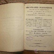 Libros antiguos: 2317- PRONTUARIO PERMANENTE PARA LIQUIDAR TODA CLASE DE SUELDOS. MANUEL SARTI. IMP. GOMEZ 1806. Lote 35375046