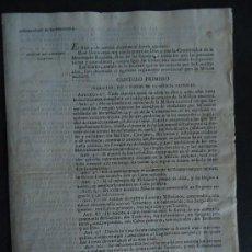 Libros antiguos: LEGISLACION.'REGLAMENTO PROVISIONAL PARA LA MILICIA NACIONAL' 1820.'. Lote 35770466