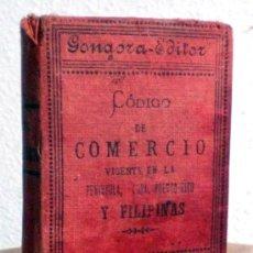 Libros antiguos: CODIGO DE COMERCIO. ANTIGUO 1890 CURIOSIDAD. Lote 36090573