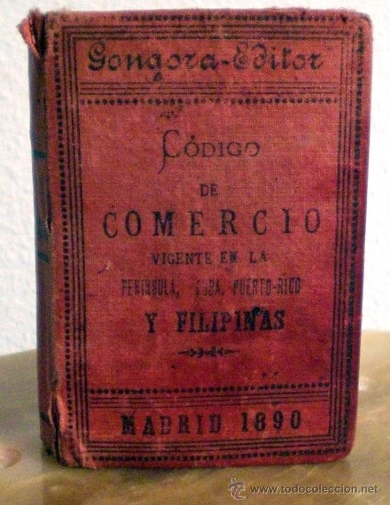 Libros antiguos: CODIGO DE COMERCIO. ANTIGUO 1890 CURIOSIDAD - Foto 3 - 36090573
