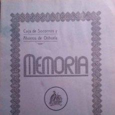 Libros antiguos: RARÍSIMA MEMORIA DE LA CAJA DE SOCORROS Y AHORROS DE ORIHUELA. 1931 ALICANTE. Lote 36412497
