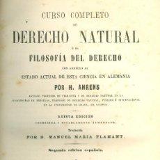 Libros antiguos: H. AHRENS. COMPENDIO DE DERECHO NATURAL Ó FILOSOFÍA DEL DERECHO. MADRID, 1864. DERECHO. Lote 36522408