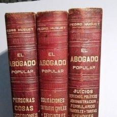 Libros antiguos: EL ABOGADO POPULAR. Lote 36581950