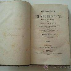 Libros antiguos: INSTITUCIONES DEL DERECHO MERCANTIL. Lote 36817323