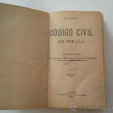 Libros antiguos: CÓDIGO CIVIL DE ESPAÑA. Lote 36818074