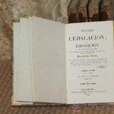 Libros antiguos: 3052- TRATADO DE LEJISLACION. CARLOS COMTE. IMP. ANTONIO BERGNES. 1836/1837. 5 VOL. . Lote 36935790