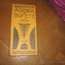 Libros antiguos: AGENDA DE BUFETE 1934 MADRID - BAILLY-BAILLIERE . PUBLICIDAD . SANTORAL - TRANVIAS- CORREOS. Lote 37164153