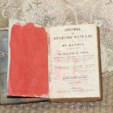 Libros antiguos: 3312- LECCIONES DE DERECHO NATURAL. DE FELICE. IMP. SEVERIANO ORMAÑA. 1841. TOMO I. . Lote 37486755
