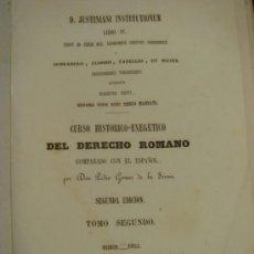 Libros antiguos: JUSTINIANI INSTITUTIONUM LIBRI IV. TOMO II. 1863. Lote 37533810