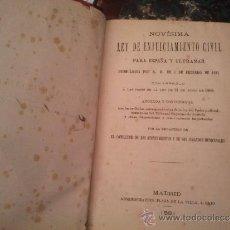 Libros antiguos: LEY DE ENJUICIAMIENTO CIVIL. Lote 37682296
