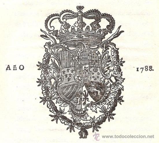 REAL CEDULA DE S. M. Y SEÑORES DEL CONSEJO – AÑO 1788 (Libros Antiguos, Raros y Curiosos - Ciencias, Manuales y Oficios - Derecho, Economía y Comercio)