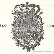 Libros antiguos: REAL CEDULA DE S. M. Y SEÑORES DEL CONSEJO – AÑO 1788. Lote 37963511