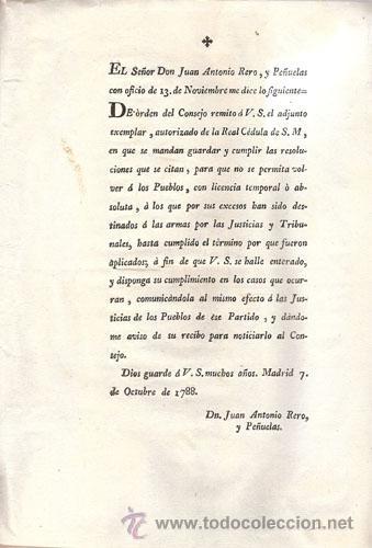 Libros antiguos: REAL CEDULA DE S. M. Y SEÑORES DEL CONSEJO – Año 1788 - Foto 4 - 37963511