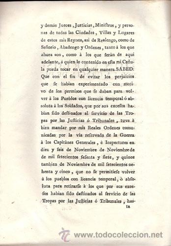 Libros antiguos: REAL CEDULA DE S. M. Y SEÑORES DEL CONSEJO – Año 1788 - Foto 5 - 37963511