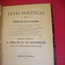 Libros antiguos: LEYES POLÍTICAS. MADRID 1908. Lote 38134397
