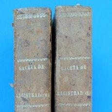 Libros antiguos: GACETA DE REGISTRADORES Y NOTARIOS. TOMOS XII Y XIII. 2 VOLÚMENES: 1º Y 2º SEMESTRE DE 1874. Lote 38136146