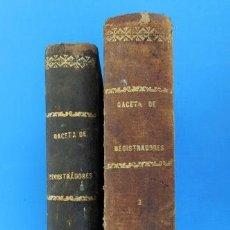 Libros antiguos: GACETA DE REGISTRADORES Y NOTARIOS. TOMOS XIV Y XXV. 2 VOLÚMENES: 1º Y 2º SEMESTRES DE 1880. Lote 38138332