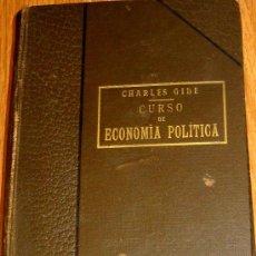Libros antiguos: CURSO DE ECONOMÍA POLÍTICA CHARLES GIDE LIBRERÍA DE LA Vª DE CH. BOURET AÑO 1923 . Lote 38168550