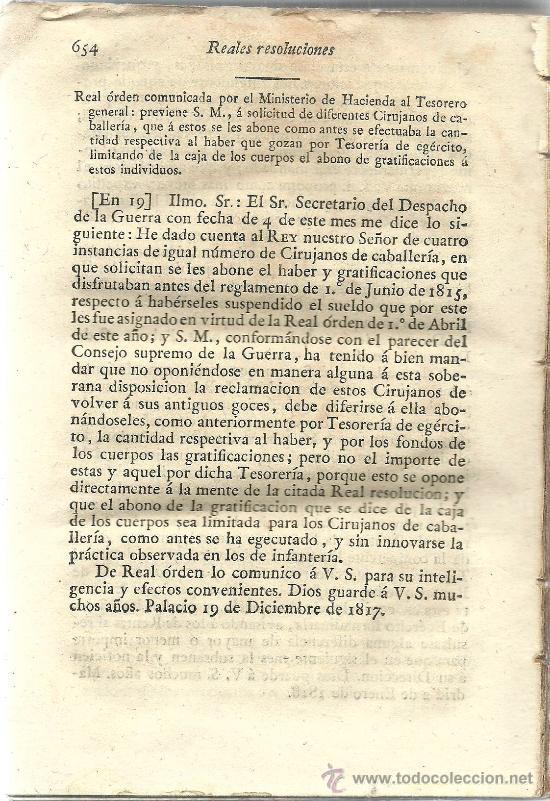 Libros antiguos: Decretos del Rey Don Fernando VII : tomo cuarto – 1818 - Foto 2 - 38954379