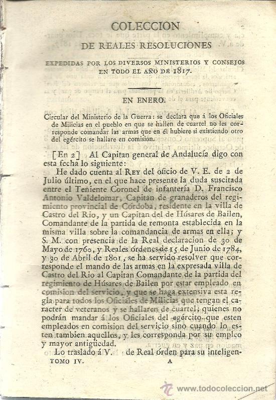 Libros antiguos: Decretos del Rey Don Fernando VII : tomo cuarto – 1818 - Foto 4 - 38954379