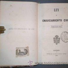 Libros antiguos: LEY DE ENJUICIAMIENTO CIVIL. TERCERA EDICIÓN OFICIAL. 1858. Lote 39210027