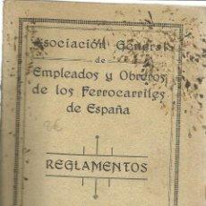 Libros antiguos: REGLAMENTOS DELOS EMPLEADOS Y OBREROS DE LOS FERROCARRILES ESPAÑOLES. 1930,MADRID,RENFE. Lote 55717737