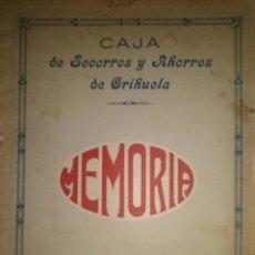 Libros antiguos: MEMORIA DEL AÑO 1924 DE LA CAJA DE SOCORROS Y AHORROS DE ORIHUELA ALICANTE. Lote 39359687