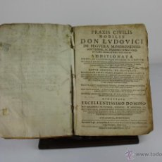 Libros antiguos: 6043 - PRAXIS CIVILIS NOBILIS. LUIS DE PEGUERA. TIP. RAFAEL FIGUERO. BARCELONA. 1674.. Lote 39590137