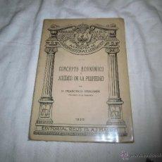 Libros antiguos: CONCEPTO ECONOMICO Y JURIDICO DE LA PROPIEDAD FRANCISCO BERGAMIN PUBLICACION DE LA REAL ACADEMIA . Lote 39782043