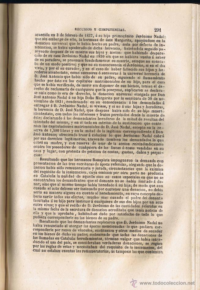 Libros antiguos: JURISPRUDENCIA CIVIL - 1869 - 1 - RECURSOS Y COMPETENCIAS - SENTENCIAS DICTADAS - - Foto 4 - 54955115