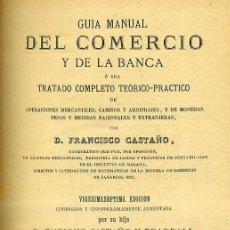 Libros antiguos: F. CASTAÑO : GUÍA MANUAL DEL COMERCIO Y DE LA BANCA (GÓMEZ FUENTENEBRO 1900). Lote 39972207