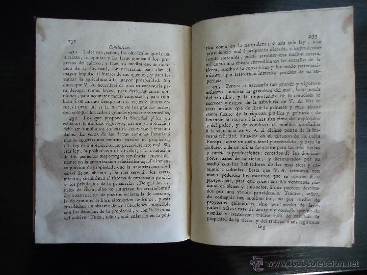 Libros antiguos: INFORME SOCIEDAD ECONOMICA DE MADRID.LEY AGRARIA. GASPAR MELCHOR DE JOVELLANOS. 1820 - Foto 3 - 40142654
