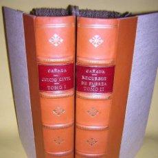 Libros antiguos: 1794 - CONDE DE LA CAÑADA - INSTRUCCIONES DE LOS JUICIOS CIVILES / SOBRE LOS RECURSOS DE FUERZA. Lote 40621071